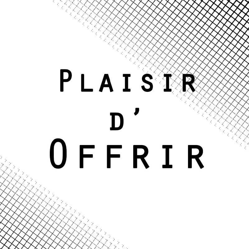 """Carte message """"plaisir d'offrir"""""""