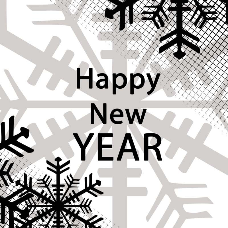 """Carte message """" Happy new year """""""