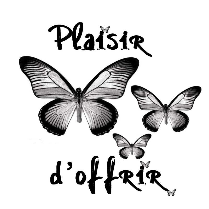 """Carte message papillons """" Plaisir d'offrir """""""