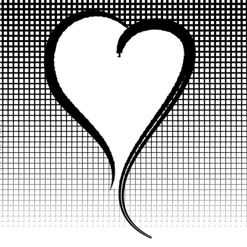 Carte message coeur