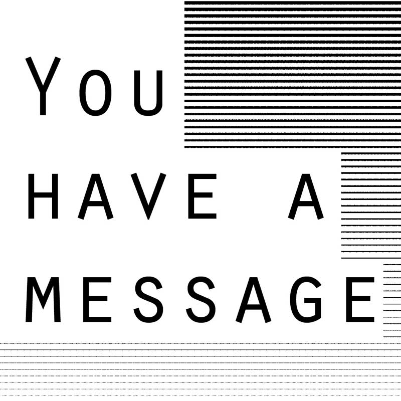 "Carte message "" You have a message """