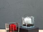 Rose stabilisée cube verre